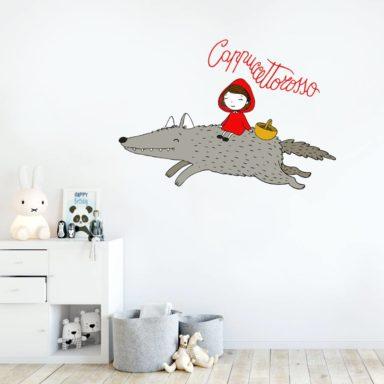 moode_wrapping_adesivi_bambini_camerebambini_rivestimenti_roma_stickers_personalizzati_cappuccetto_rosso